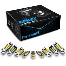 Seker Canbus אוטומטי אורות LED לסמארט פורטו 450 451 453 Forfour 454 453 EQ אביזרי רכב לאורות כיפה מפת אורות תא מטען מנורת לוחית רישוי מנורה ללא שגיאה W5W T10 נורת LED 12V