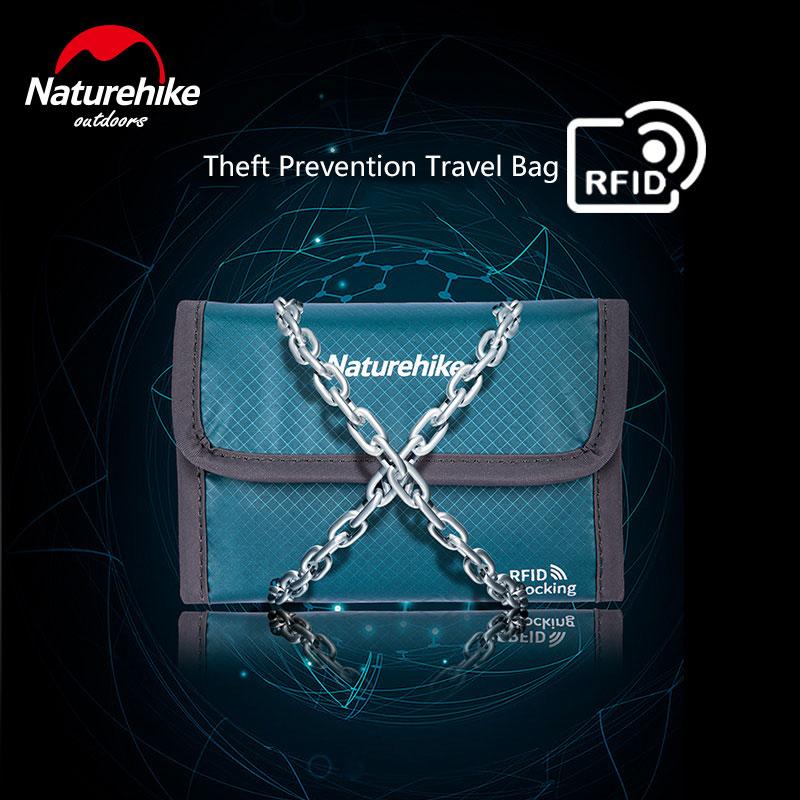 Naturehike RFID Anti-theft Brush Travel Wallet Multifunction 30D Waterproof Certificates Storage Bag 3 Colors Plane Train