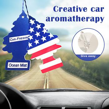 Małe drzewa odświeżacz powietrza do samochodu do zawieszenia na drzewko zapewnia długotrwały zapach dla Auto lub domu NJ88 tanie i dobre opinie Vecligt CN (pochodzenie) 565662065210 Stałe Car Air Freshener