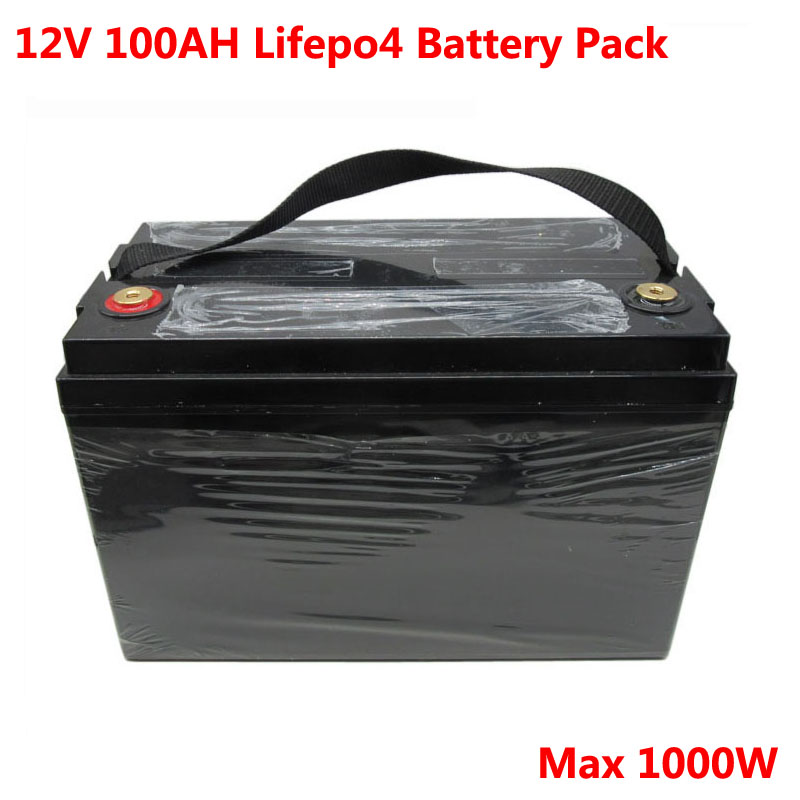 1000W <font><b>12V</b></font> <font><b>100Ah</b></font> <font><b>Lifepo4</b></font> <font><b>battery</b></font> pack for UPS solar storage sytem solar panel golf trolley motor caravan+10A charger 32700 Cell image