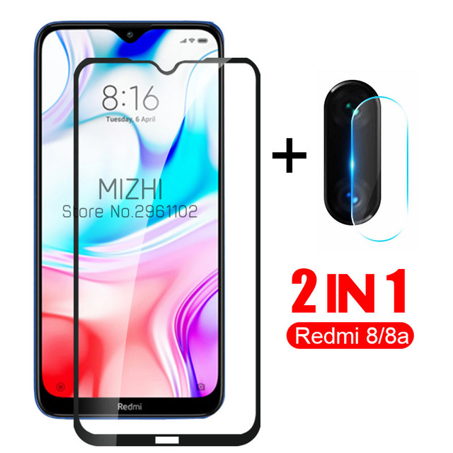 2-in-1 protective glass redmi 8 camera lens screen protector for xiaomi redmi 8a 8 a a8 redmi8 back cover film on xiomi redmi8a