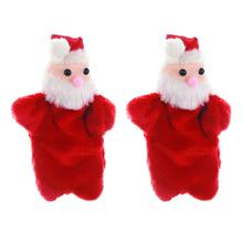 2Pcs Cartoon Finger Toy Santa Claus Toy Finger Puppet Adorable Christmas Toy