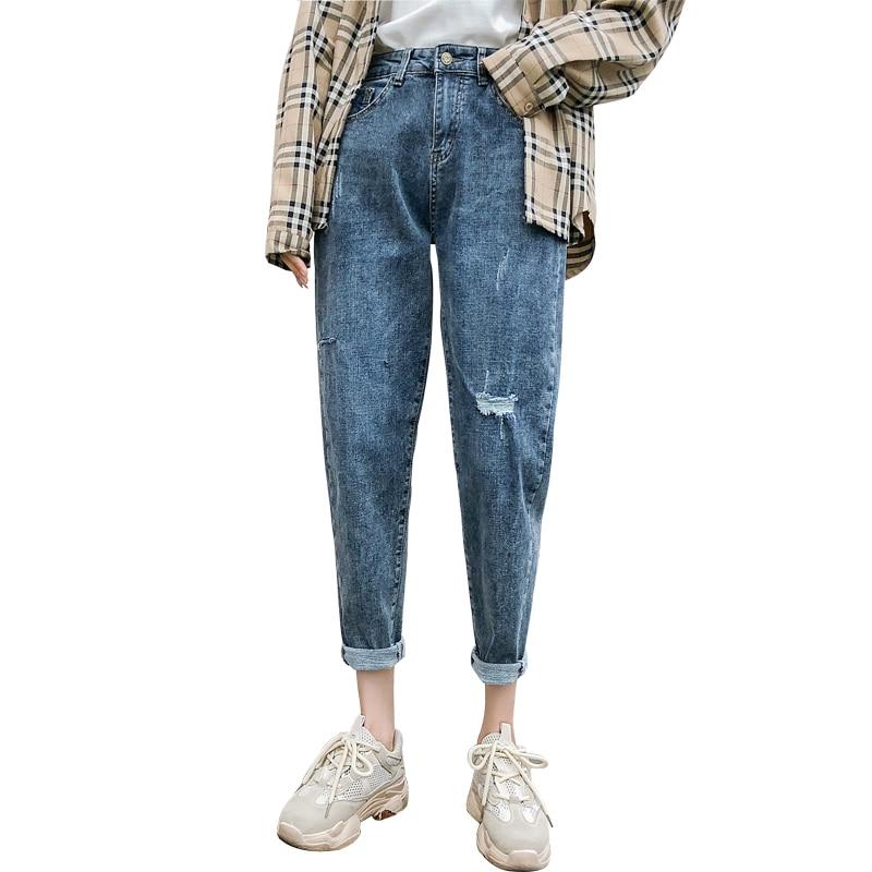 Harem Pants Denim High Waist Jeans Woman Plus Size Vaqueros Mujer Casual Vintage Loose Jean Femme Ladies Trousers Jeans