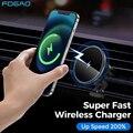 15 Вт Qi магнитное беспроводное автомобильное зарядное устройство держатель телефона для iPhone 12 Pro Max мини Крепление на вентиляционное отверст...