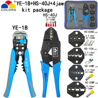 COLORS HS 40J crimping pliers Y1 wire stripper multifunction tools kit 4 jaw for insulation non insulation tube pulg terminals|Pliers| |  -