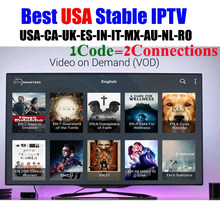 Stable USA IPTV server 1year subscription Canada Mexico Latin channels Indian UK European VOD adult xxx m3u smart tv android(China)