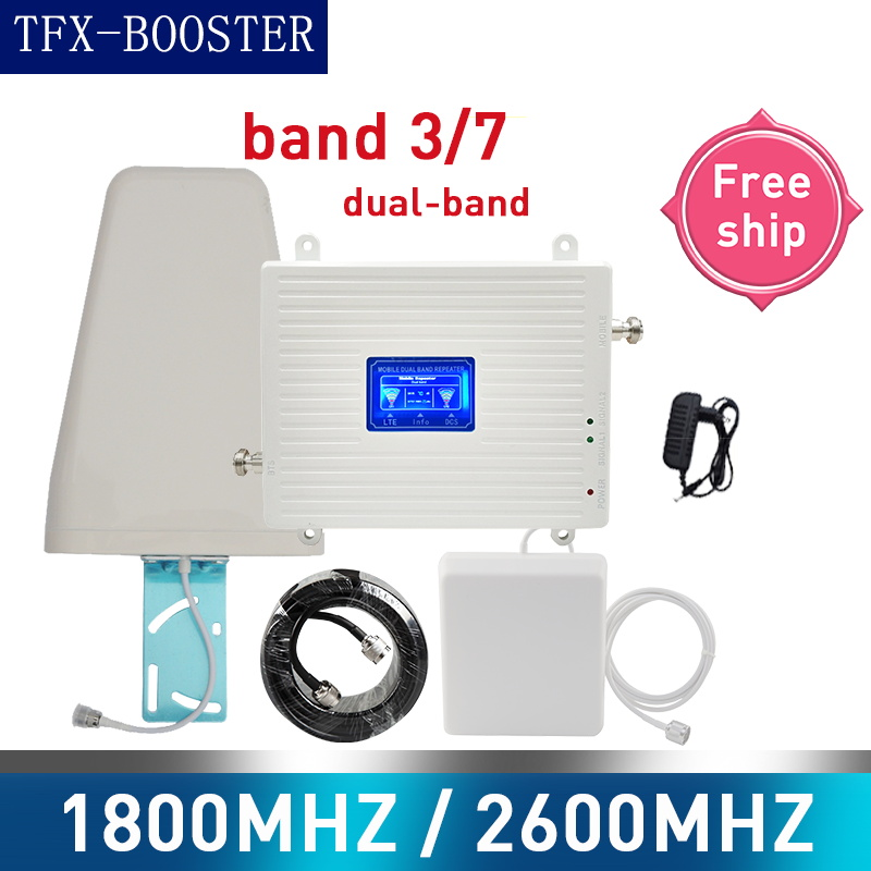 TFX-BOOSTER Repeater 4g 1800 2600 Mhz Gsm Signal Booster DCS LTE 2G 3G 4G Dual-Band Amplifier GSM Cellular Mobile Signal Booster