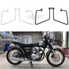 Motorcycle Solid Saddlebag Support Bracket Side Mount Trunk Bag Holder For Kawasaki 400 650 800 W400 W650 W800