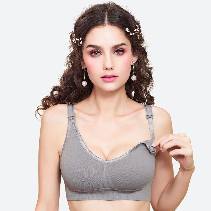 Women's Intimates Lycra Seamless Sports Bra Lady's Underwear Steel Wirefree Remove Pad FullCup Large One Piece Bra Thin Mold Cup