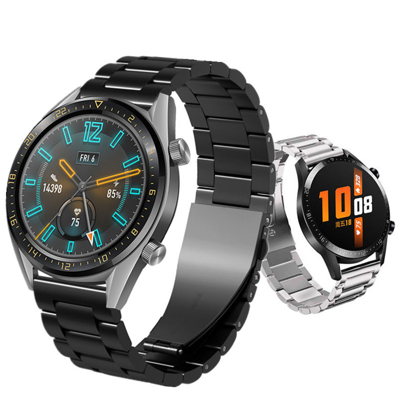 Huawei watch GT 2 strap for <font><b>samsung</b></font> Galaxy watch <font><b>46mm</b></font> 20 22mm watch band Stainless steel bracelet gear s3 frontier active 2 40mm image