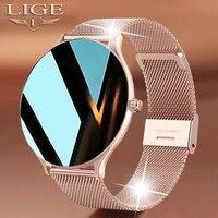 LIGE-reloj inteligente con pantalla táctil para hombre y mujer, nuevo accesorio de pulsera deportivo resistente al agua con control del ritmo cardíaco y pantalla táctil de lujo
