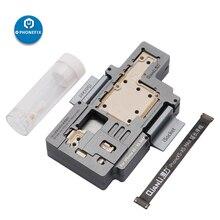 QIANLI ISocket Cho iPhone X XS XSMAX 11 11Pro Max Bo Mạch Chủ Kiểm Tra Đèn ĐÔI ĐI Bo Mạch Chủ Chức Năng Kiểm Tra Nền Tảng