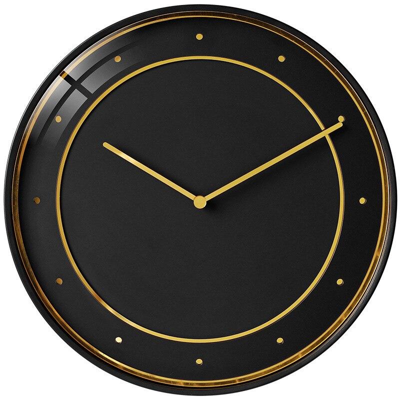 Modern Minimalist Wall Clock Luxury Style Living Room Wall Clock Nordic Creative Mute Wall Clock Home Decoration DD6WC