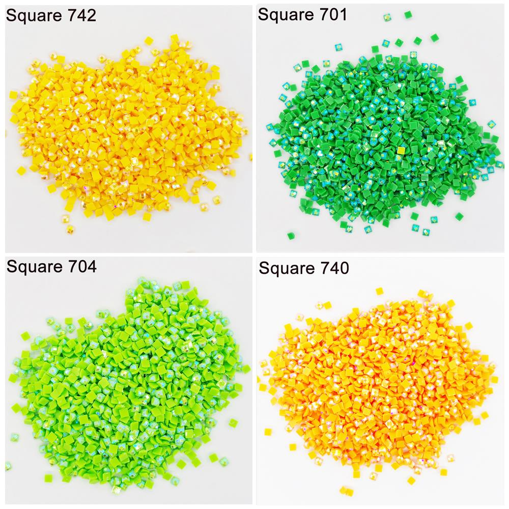 2021 New AB Stone Square Drills For DIY Diamond Painting Embroidery Rhinestone Colorful Mosaic Many Color Shinning