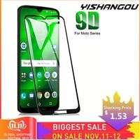 YISHANGOU 9D Full Cover Tempered Glass HD Screen Protector For Motorola Moto G7 Play G7 Power Moto E4 Plus/G6/G5S Plys/E5 Plus