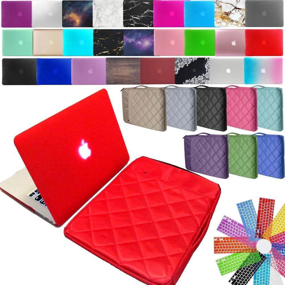 KK&LL Apple macbook Air Pro retina 11 12 13 15 и новый Air13/Pro 13 15-Touch Bar Жесткий Чехол для ноутбука + сумка на рукав + чехол для клавиатуры