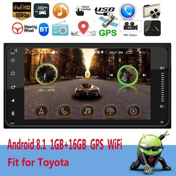 Andriod Car Radio Car Multimedia Player GPS Navigation 7 Touch Screen Autoradio Support Rear View Camera Backup Monitor image