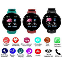 Reloj D18 Round Smart Watch 2020 Heart Rate Smartwatch Men Women Blood pressure Step Stopwatch Android Smart Bracelet amazfit