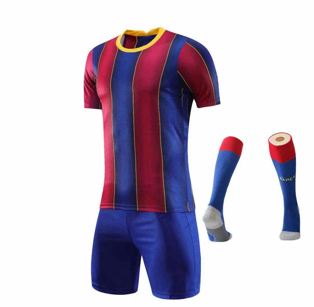 Children Sets football uniforms boys and girls sports kids youth training suits blank custom print soccer set with socks 39