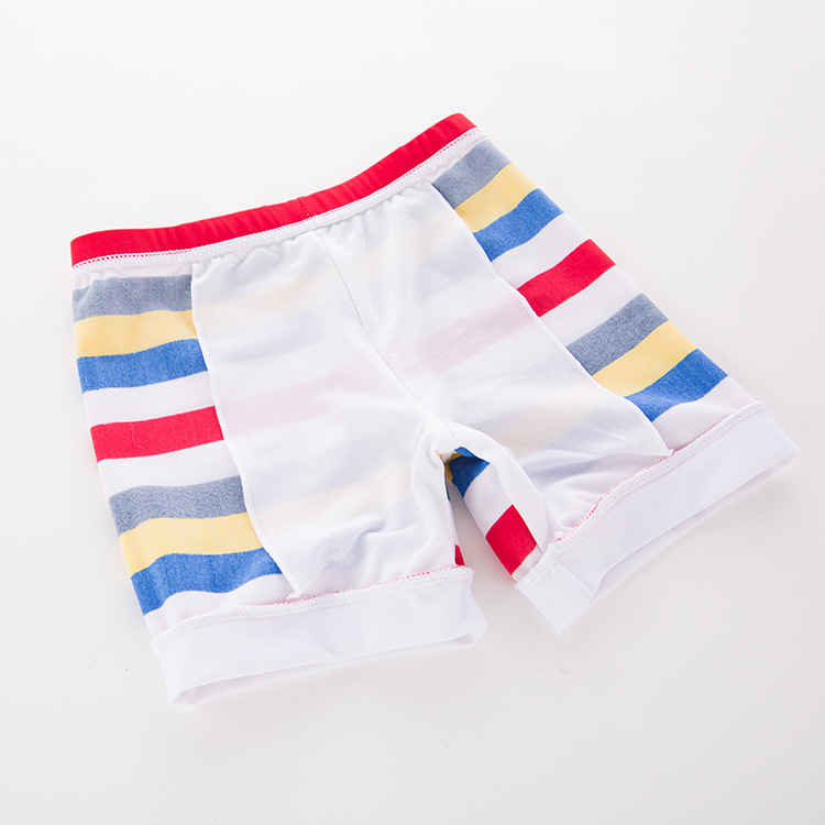 Men's Two-piece Swimsuits Colorful Stripes Car-KID'S Swimwear Hot Springs Clothing