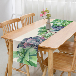 Image 4 - Modern Simple Style Table Runner Animal and Green Plants Printed Table Runner for Wedding Party Home Hotel Bed Flag Tail Towel