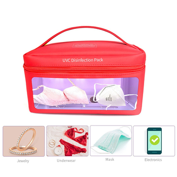 3pcs Portable UVC Sterilizer Bag For Mask Phone Watch Feeding Bottle Towels Cleaner Storage Led Disinfection Bag Usb Interface
