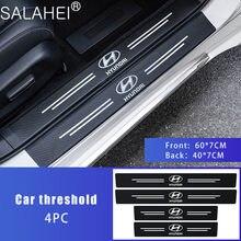 4 шт. порога протектор Наклейка бампера полосы для Hyundai акцент крет EON горная i10 i20 i40 IONIQ IX25 IX5 KONA стайлинга автомобилей