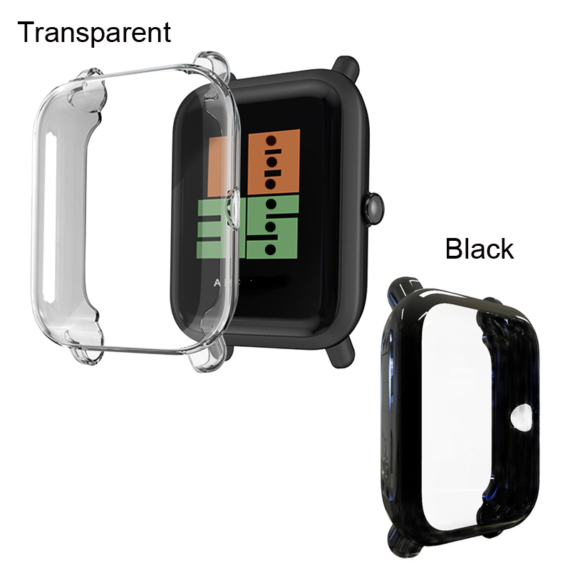 For Xiaomi Amazfit Bip Youth/Lite Bracelet Strap TPU Soft Case Silicone Watchband Protector 2Pcs