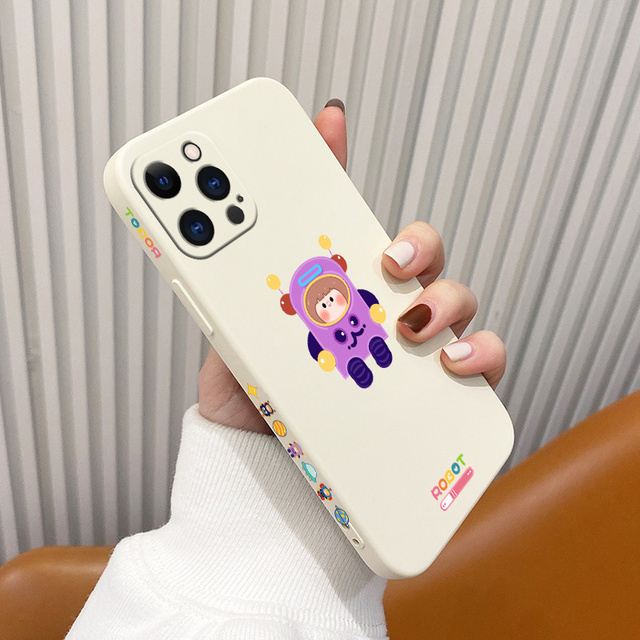 Soft Cartoon Pattern Liquid Silicone Case For iPhone 12 Pro Max 11 X XS  XR XSMAX SE2020 8 8Plus 7 7Plus 6 6S Plus 5 5S 4