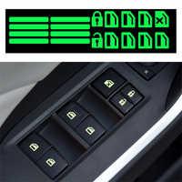 Calcomanía luminosa para interruptor de ventana de coche, calcomanía luminosa para Toyota alphard Tundra PRADO 4Runner Avensis Aygo REIZ camry corolla