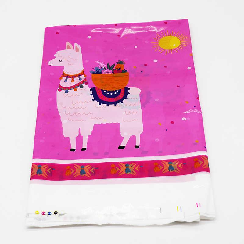 Lama tema parti süslemeleri alpaka doğum günü partisi malzemeleri Lama tema kağıt tabaklar bardaklar peçeteler afiş patlamaları