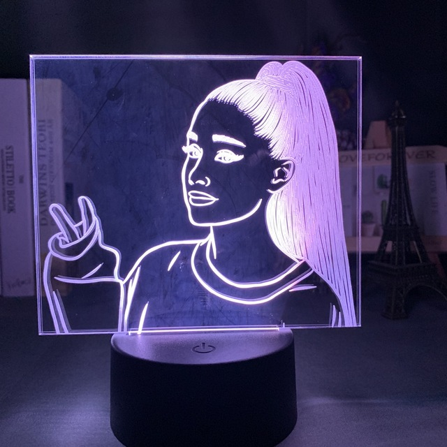 16 COLOR WITH REMOTE ARIANA GRANDE 3D LED LAMP