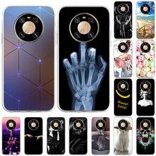 Caso para huawei companheiro 40 casos à prova de choque capas de telefone para huawei companheiro 40 OCE-AN10 6.5 polegada tpu macio padrão silicone bonito