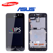 4.5''Sinbeda IPS LCD For ASUS Zenfone 4.5 A450CG Touch Screen With Frame Digitizer Assembly For ASUS 4.5 LCD For A450CG Screen 5158n fpc 1 lcd touch screen digitizer assembly with frame for asus pad tf300tg