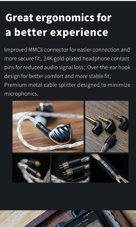 fone de ouvido cabo mmcx 0.78mm, incluem