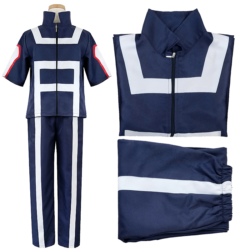 My Hero Academia Boku No Hero Academia Cosplay Gym Sport Costume Suit Uniform