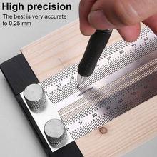 Calibrador de marca de carpintería inoxidable, regla de escala de alta precisión, regla de orificio tipo T, herramienta de medición de carpintero de 180mm-400mm