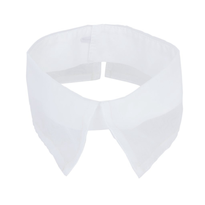 Organza-Pointed Vintage Neckline Collar Dress Decoration - White