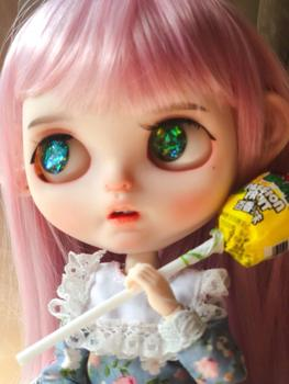 RBL Blyth Doll NBL 1/6 BJD Customized Frosted Face,big eyes Fashion girl makeup Ball Jointed Doll with Pink hair
