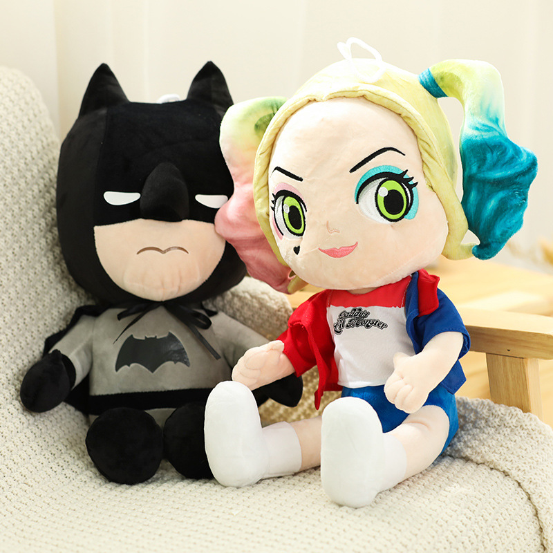 Justice League X Task Force Harley Quinn And Batman Plush Toys Stuffed Toys Doll Baby Birthday Gifts Kids Girl Room Decoration