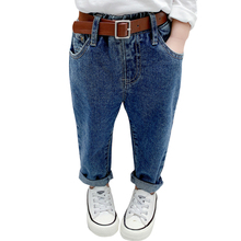 Jeans Girls Toddler Winter Solid Casual for with Belt Autumn