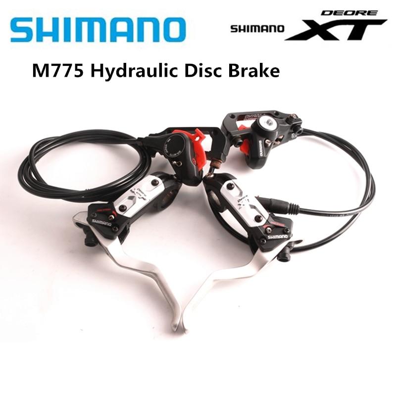 Shimano deore xt br m575 m775 mtb 자전거 부품 원래 유압 디스크 브레이크 다음 xt m785 m8000 m8100 한 쌍에 적합