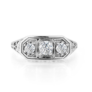 Image 5 - Szjinao Diamond Ringen Voor Vrouwen Zirkoon 3 Precious Stone Massif Edelsteen Ring Voor Vrouwen Carve Wedding Real Zilver 925 Sieraden