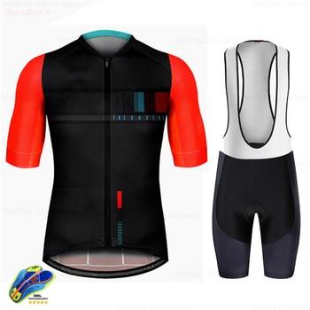 цена на Men's Cycling Jersey Set 2020 Pro Team Bicycle Cycling Clothing Ropa Ciclismo Mtb Mountain Bike Summer Breathable Bib Shorts Set