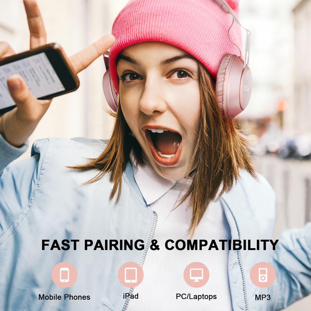 Image 3 - EKSA оригинальные беспроводные наушники CVC 6,0 шумоподавление  Гарнитура с 30 H время игры Проводные Bluetooth наушники с микрофоном  розовыйНаушники и гарнитуры