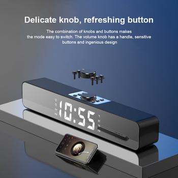 LED soundbar do telewizora budzik przewodowy bezprzewodowy głośnik Bluetooth lustro głośnik Bluetooth cyfrowy budzik FM Radio komputer stancjonarny tanie i dobre opinie Skatolly Połączenie Baterii Z tworzywa sztucznego Pełny zakres 2 (2 0) CN (pochodzenie) 25 W NONE inny Kompozytowy