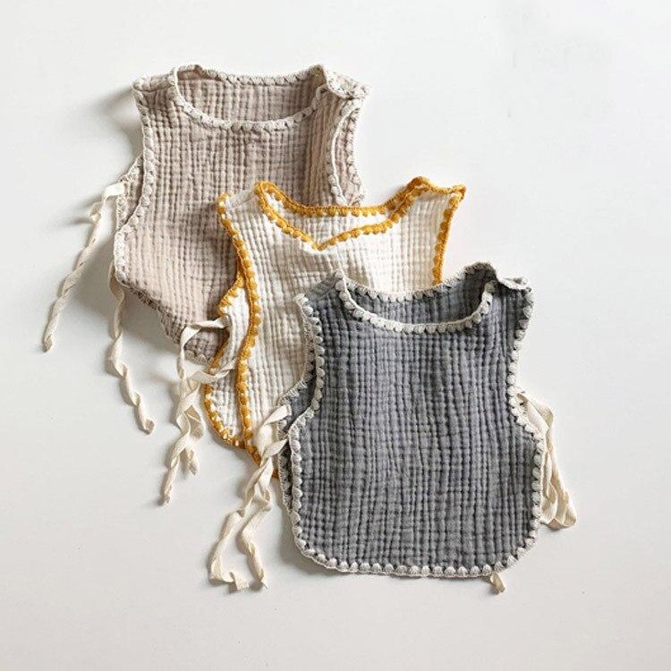 2020 Newborn Toddler Baby Boy Girl Sleeveless T-shirts Tees Cotton Undershirt Summer Infant T-shirt Windproof  Vest 0-24M