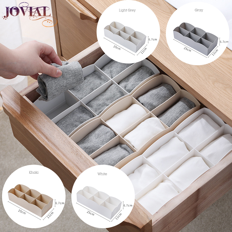 Socks Box PP Material Household Stackable Underwear In The Closet Organizer Japanese-style Inside Drawer Lattice Storage Boxes