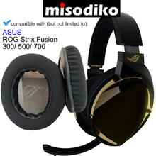 ASUS ROG Strix Fusion 300/ 500/ 700 게임용 헤드셋 헤드폰 수리 부품 이어 패드 용 misodiko 교체 용 이어 패드 쿠션 키트