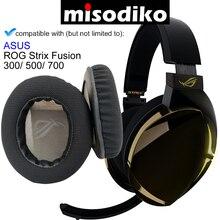Misodiko substituição almofadas de ouvido almofada kit para asus rog strix fusão 300/ 500/ 700 jogos fone ouvido fones peças reparo earpads